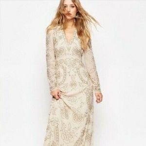 Needle and Thread beaded maxi dress